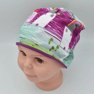 Kindermütze Unikat lila