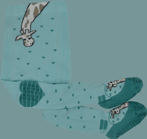 krabbelstrumpfhose grün maximo giraffenmotiv