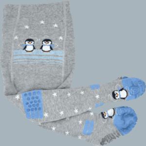 pinguin babystrumpfhose baby blau