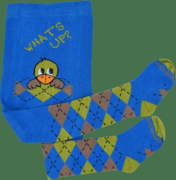 babystrumpfhose blau vogelmotiv maximo