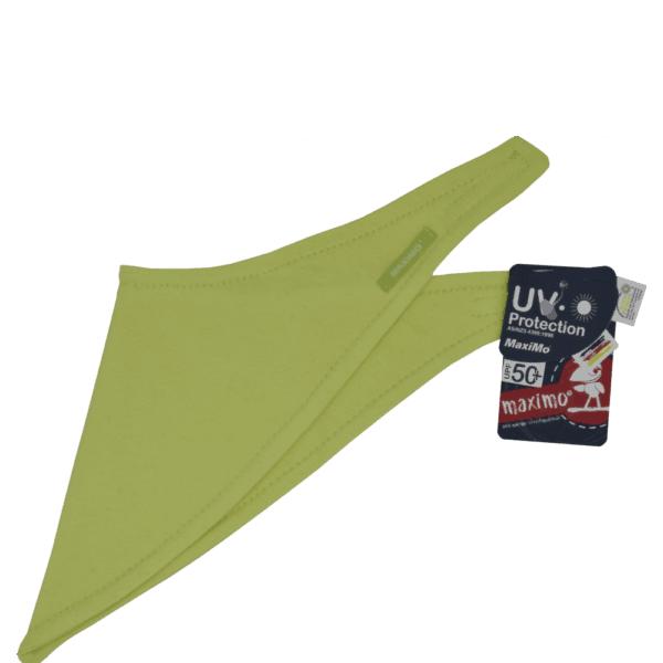 Babydreieckstuch in den schönen Grünton lime.Eine special Edition vom Hersteller MAXIMO.