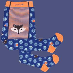 babystrumpfhose graziela fuchsmotivjungs blau