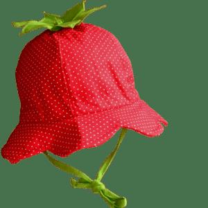Kinder Sommermütze Erdbeere
