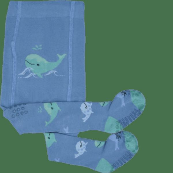 Krabbbelstrumpfhose Wal blau