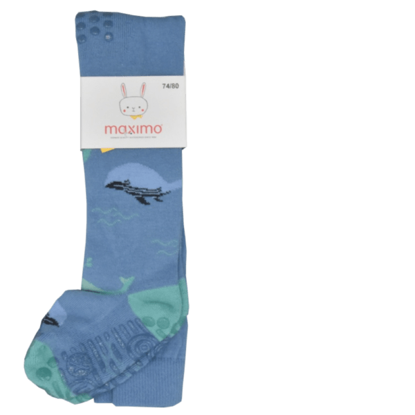Krabbbelstrumpfhose Wal blau detail