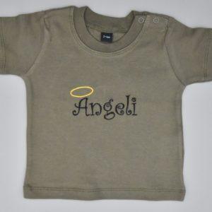 Baby T-Shirt Ängeli khaki 3-6 Monate