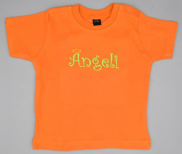 Baby T-Shirt Ängeli orange 6-12 Monate