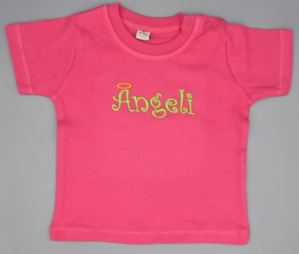 Baby T-Shirt Ängeli pink 6-12 Monate