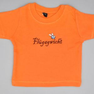 Baby T-Shirt Flügagwicht orange