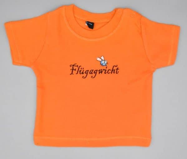 Baby T-Shirt Flügagwicht orange