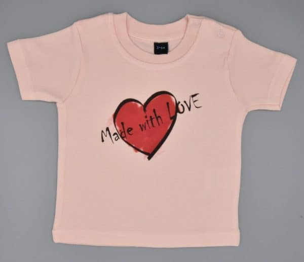 Baby T-Shirt Love rosa