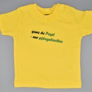 Baby T-Shirt Papi gelb