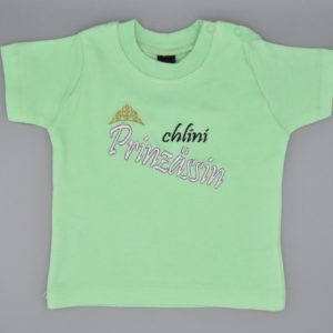 Baby T-Shirt Prinzessin mint