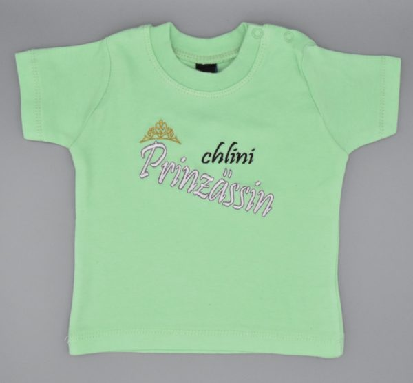 Baby T-Shirt Prinzessin mint