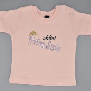 Baby T-Shirt Prinzessin rosa