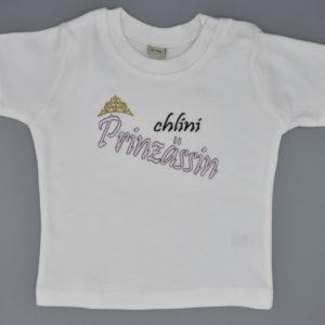 Baby T-Shirt Prinzessin weiss