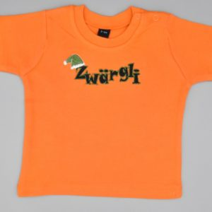 Baby T-Shirt Zwärgli orange