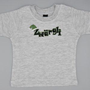 Baby T-Shirt Zwärgli grau