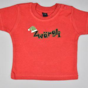Baby T-Shirt Zwärgli rot